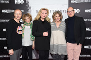 "(L-R) Fenton Bailey, Sara Bernstein, Katharina Otto-Bernstein, Sheila Nevins and Randy Barbato attend ""Mapplethorpe: Look At The Pictures"" New York Premiere at Time Warner Center on March 22, 2016 in New York City."
