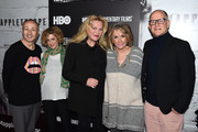 """(L-R) Fenton Bailey, Sara Bernstein, Katharina Otto-Bernstein, Sheila Nevins and Randy Barbato attend """"Mapplethorpe: Look At The Pictures"""" New York Premiere at Time Warner Center on March 22, 2016 in New York City."""