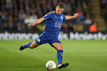 Marc Albrighton Leicester City v Leeds United - Carabao Cup Fourth Round