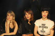 Tennessee Thomas, Alexa Chung and Sarah Sophie Flicker attend the Marc By Marc Jacobs fashion show during Mercedes-Benz Fashion Week Fall 2015 at Pier 94 on February 17, 2015 in New York City.