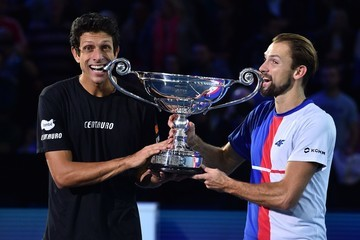 Marcel Granollers Ivan Dodig Day Two - Nitto ATP World Tour Finals