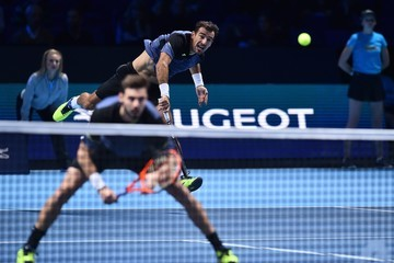 Marcel Granollers Ivan Dodig Day Four - Nitto ATP World Tour Finals