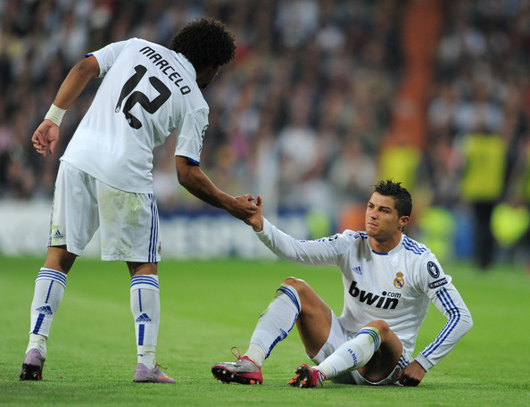 Marcelo Real Madrid. Marcelo (L) of Real Madrid