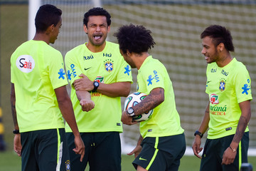 Marcelo Fred Brazil Training Camp - Day 10 - 2014 FIFA World Cup