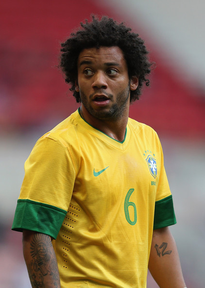 Marcelo Marcelo of Brazil looks on during the international friendly ...