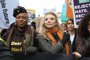 Natalie Dormer during the #March4Women 2020 rally at Southbank Centre on March 08, 2020 in London, England. The event is to mark International Women's Day.