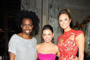 Adepero Oduye, Jenna Dewan Tatum, and  Stacy Keibler attends the Marchesa Fall 2012 fashion show during Mercedes-Benz Fashion Week at The Plaza Hotel on February 15, 2012 in New York City.