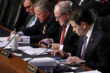 Marco Rubio Senate Intelligence Committee Holds Hearing On Election Security