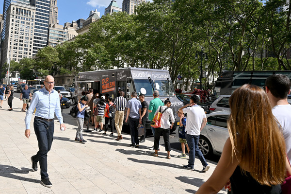 Celebrating The Release Of Marcus Samuelsson's 'Our Harlem' With Food Trucks In NYC