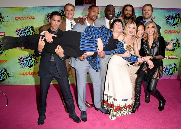 Celebs Speak at the 'Suicide Squad' Premiere in London