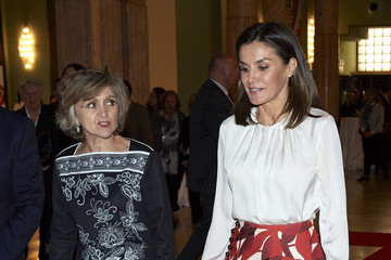 Maria Luisa Carcedo Queen Letizia Attends The Centenary Of The School Of Nursing And Of The Central Hospital Of Cruz Roja