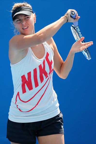 Maria Sharapova Fan Blog: Practice session during day 10 |Maria Sharapova 2013 Australian Open