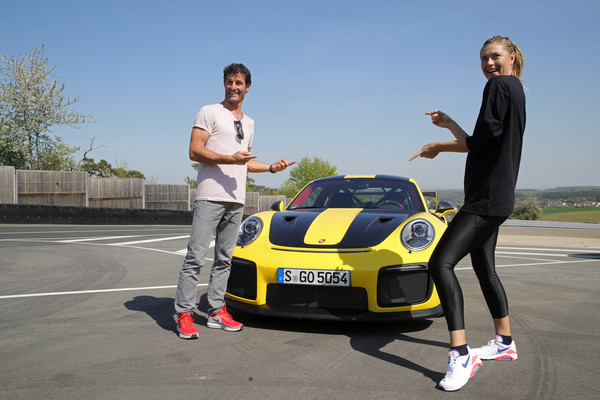Maria Sharapova And Mark Webber Drive A Porsche 911 RT2 RS - 35 of 35