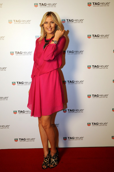 Maria Sharapova - TAG Heuer Formula 1 Lady Steel And Ceramic Pavee Watch Launch