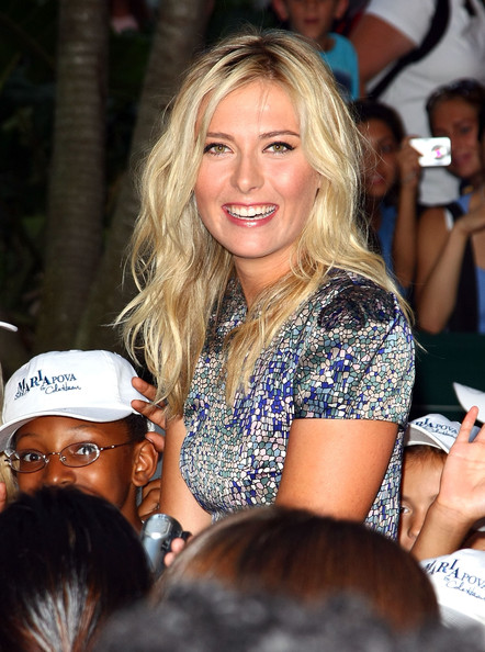 Tennis star Maria Sharapova attends the unveiling of her collection at Cole Haan Rockefeller Center Store on August 27, 2009 in New York, New York.