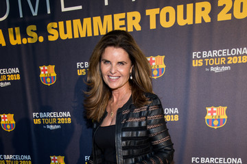 Maria Shriver FC Barcelona Welcome Party