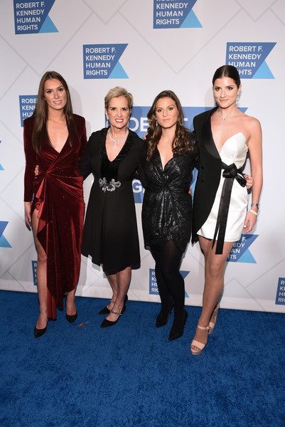 Robert F. Kennedy Human Rights Hosts 2019 Ripple Of Hope Gala & Auction In NYC - Arrivals [robert f. kennedy human rights hosts 2019 ripple of hope gala auction,kerry kennedy,michaela cuomo,cara cuomo,mariah kennedy cuomo,carpet,red carpet,premiere,dress,event,fashion,little black dress,flooring,electric blue,cocktail dress,nyc - arrivals,new york city,robert f. kennedy human rights hosts 2019 ripple of hope gala auction in nyc]