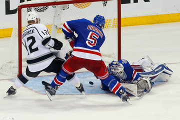 Marian Gaborik Dan Girardi NHL Stanley Cup Final: Game Three