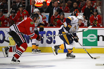 Marian Hossa Nasvhille Predators v Chicago Blackhawks - Game One