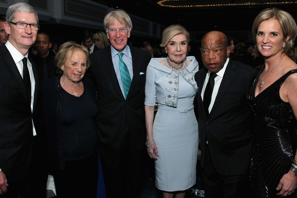 Robert F. Kennedy Human Rights Hosts the 2015 Ripple of Hope Awards [roger altman,tim cook,marianna vardinoyannis,john lewis,kerry kennedy,robert f. kennedy human rights hosts,ripple of hope awards,event,premiere,fashion,suit,formal wear,dress,smile,white-collar worker,style,evercore,apple,unesco]