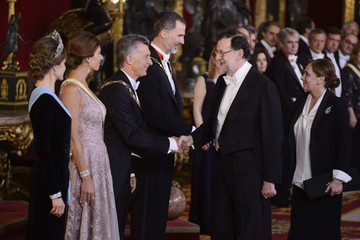Mariano Rajoy Official Dinner of Spanish Royals and President Mauricio Macri and Wife