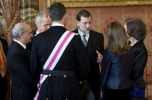 Spanish Royals Celebrate New Year's Military Parade 2012