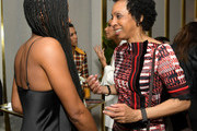 (L-R) Emayatzy Corinealdi and Nina Shaw are seen as Marie Claire honors Hollywood's Change Makers on March 12, 2019 in Los Angeles, California.