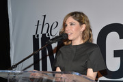 Actress Carrie Brownstein speaks onstage during the inaugural Image Maker Awards hosted by Marie Claire at Chateau Marmont on January 12, 2016 in Los Angeles, California.