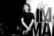 Image was shot in black and white)  Actress Carrie Brownstein speaks onstage during the inaugural Image Maker Awards hosted by Marie Claire at Chateau Marmont on January 12, 2016 in Los Angeles, California.
