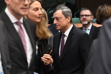 Mario Draghi Eurogroup Ministerial Meeting at the European Council in Brussels