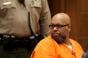 """Marion """"Suge"""" Knight during sentencing at the Clara Shortridge Foltz Criminal Justice Center on October 4, 2018 in Los Angeles, California."""