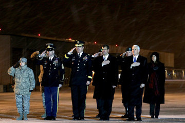 Mark Esper Special Forces Solider Killed in Afghanistan Returns to Dover Air Force Base