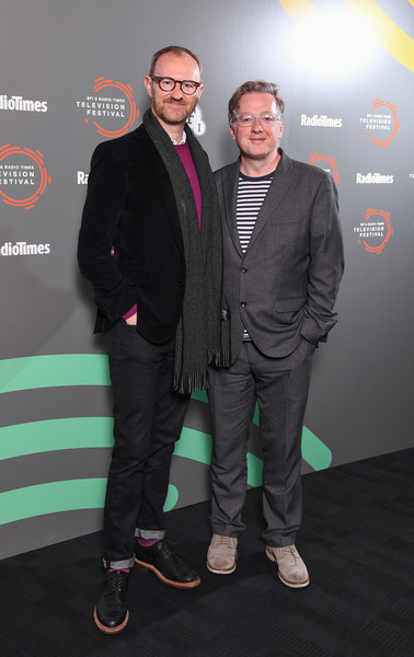 'In Conversation: Mark Gatiss On Ghost Stories'- BFI & Radio Times Television Festival 2019 [ghost stories,green,premiere,suit,yellow,event,carpet,flooring,white-collar worker,shoe,mark gatiss,matthew sweet,conversation,photocall,bfi southbank,england,london,l,bfi radio times television festival]