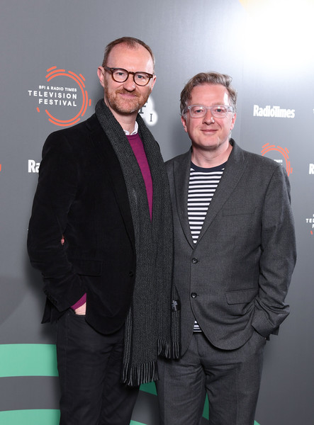 'In Conversation: Mark Gatiss On Ghost Stories' - BFI & Radio Times Television Festival 2019 [ghost stories,green,eyewear,premiere,event,fashion,suit,fashion design,vision care,white-collar worker,carpet,mark gatiss,matthew sweet,conversation,photocall,bfi southbank,england,london,l,bfi radio times television festival]