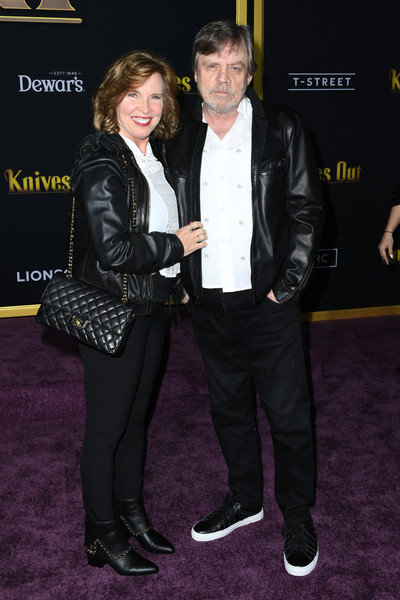Premiere Of Lionsgates' 'Knives Out' - Arrivals [knives out,suit,event,premiere,carpet,leather,footwear,jacket,leather jacket,textile,outerwear,lionsgates,marilou york,mark hamill,california,regency village theatre,westwood,premiere,premiere]