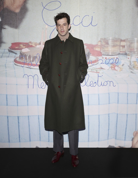 Gucci - Arrivals - Milan Meanswear Fashion Week Fall/Winter 2020/21 [clothing,fashion,fashion design,outerwear,formal wear,overcoat,trench coat,coat,suit,flooring,mark ronson,milan,italy,gucci,meanswear fashion week,show,milan meanswear fashion week,tyler the creator,milan fashion week,milan,tyler the creator,gucci,fashion,fashion week,getty images]