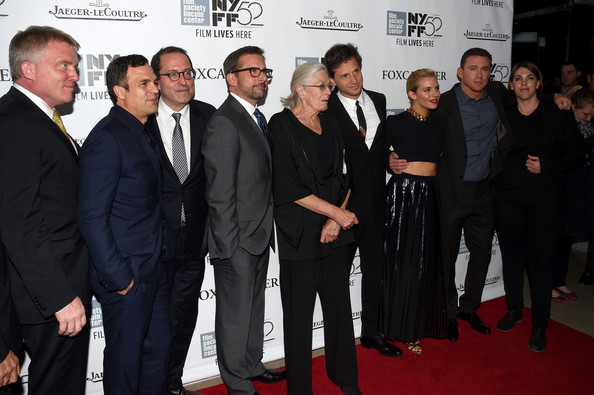 """Foxcatcher"" Premiere - 52nd New York Film Festival [foxcatcher premiere,premiere,event,red carpet,carpet,flooring,white-collar worker,anthony michael hall,sienna miller,bennett miller,vanessa redgrave,mark ruffalo,steve carell,l-r,new york film festival,premiere]"