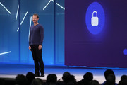 Facebook CEO Mark Zuckerberg speaks during the F8 Facebook Developers conference on May 1, 2018 in San Jose, California. Facebook CEO Mark Zuckerberg delivered the opening keynote to the FB Developer conference that runs through May 2.