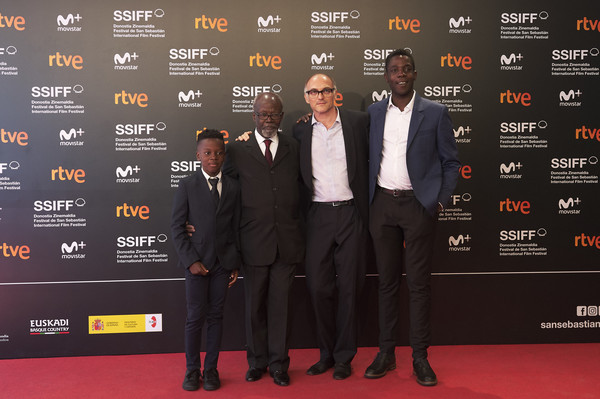 'Angelo' Photocall - 66th San Sebastian Film Festival [angelo photocall - 66th,markus schleinzer,makita samba,actors,angelo,kenny nzogang,tiemele,l-r,carpet,red carpet,premiere,event,suit,flooring,san sebastian film festival,photocall]