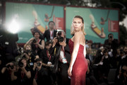 "Scarlett Johansson walks the red carpet ahead of the ""Marriage Story"" screening during during the 76th Venice Film Festival at Sala Grande on August 29, 2019 in Venice, Italy."