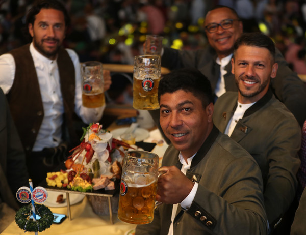 Paulaner And FC Bayern Legends At The Oktoberfest