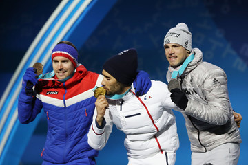 Martin Fourcade Medal Ceremony - Winter Olympics Day 10