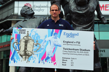 Martin Johnson 2015 Rugby World Cup Ticket Launch