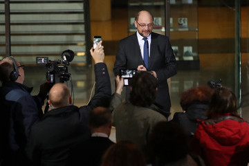 Martin Schulz SPD Meets Over Nahles Appointment As New Party Leader