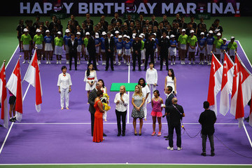 Martina Navratilova BNP Paribas WTA Finals: Singapore 2016 - Day One