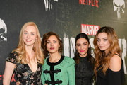 "Deborah Ann Woll, Amber Rose Revah, Floriana Lima and Giorgia Whigham attend Marvel's ""The Punisher"" Los Angeles Premiere at ArcLight Hollywood on January 14, 2019 in Hollywood, California."