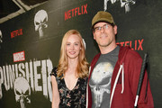 "Deborah Ann Woll and E.J. Scott attend Marvel's ""The Punisher"" Los Angeles Premiere at ArcLight Hollywood on January 14, 2019 in Hollywood, California."