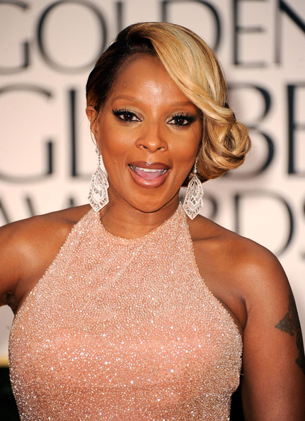 Mary J. Blige Singer Mary J. Blige arrives at the 69th Annual Golden Globe Awards held at the Beverly Hilton Hotel on January 15, 2012 in Beverly Hills, California.
