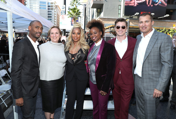 Mary J. Blige Is Honored With a Star on the Hollywood Walk of Fame [mary j. blige is honored with a star on the hollywood walk of fame,event,suit,white-collar worker,formal wear,tuxedo,team,premiere,tourism,ceremony,businessperson,mary j. blige,garrett hedlund,dee rees,kim roth,charles king,scott stuber,l-r,the hollywood walk of fame,ceremony]