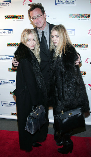 Mary-Kate Olsen (L-R) Mary Kate Olsen, Bob Saget and Ashley Olsen attend the Cool Comedy - Hot Cuisine Gala at Carolines On Broadway on November 8, 2010 in New York City.